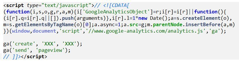 Google Analytics Code ohne anonymizeIP